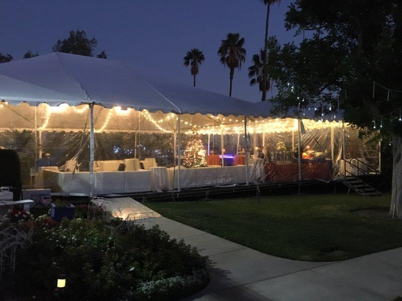 White Tent With Clear Wall