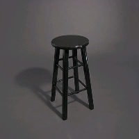 Rental store for BLACK WOOD BAR STOOL in Orange County CA
