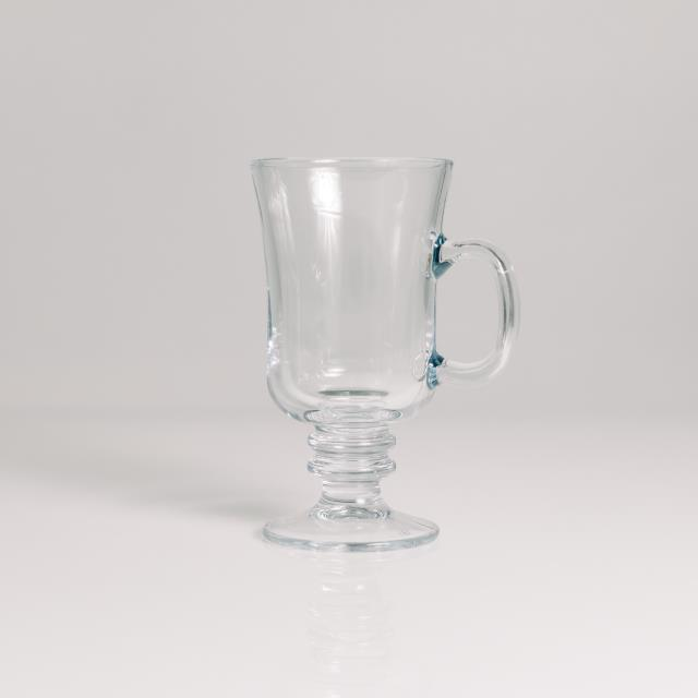 Where to find CLEAR GLASS COFFEE MUG in Orange County