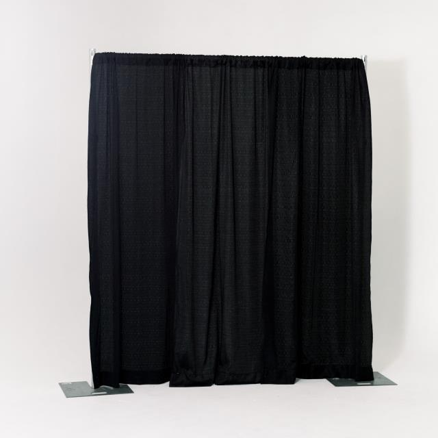 Where to find 8  HIGH PIPE   DRAPE, BLACK - PER FOOT in Orange County