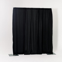 Rental store for 8  HIGH PIPE   DRAPE, BLACK - PER FOOT in Orange County CA