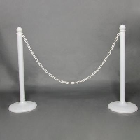 Rental store for STANCHION, WHITE PLASTIC in Orange County CA
