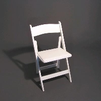 Rental store for WHITE WOOD CHAIR in Orange County CA