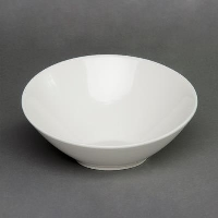 Rental store for 11  WHITE SLANTED SERVING BOWL in Orange County CA