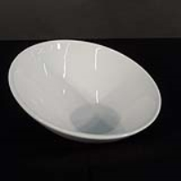 Rental store for 9  WHITE SLANTED SERVING BOWL in Orange County CA