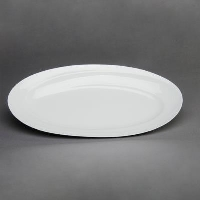 Rental store for 22X10 WHITE CHINA OVAL PLATTER in Orange County CA