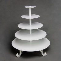 Rental store for 5 TIER CUPCAKE STAND, WHITE in Orange County CA