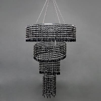 Rental store for SLANTED SWIRL CHANDELIER, BLACK in Orange County CA