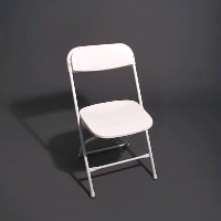 Rental store for WEDDING WHITE SAMSONITE CHAIRS in Orange County CA