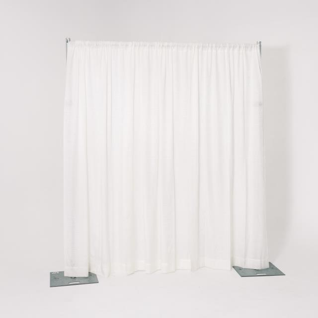 Where to find 8  HIGH PIPE   DRAPE, WHITE - PER FOOT in Orange County