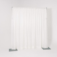 Rental store for 8  HIGH PIPE   DRAPE, WHITE - PER FOOT in Orange County CA