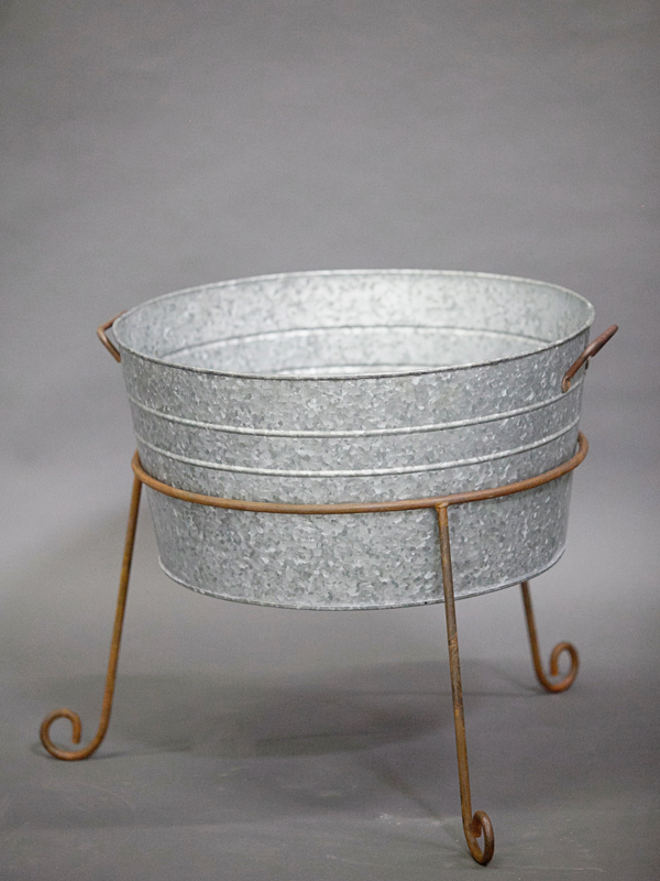 Where to find RUSTIC GALVANIZED TUB W  STAND in Orange County