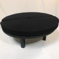 Rental store for BLACK WOOD ROUND BENCH in Orange County CA