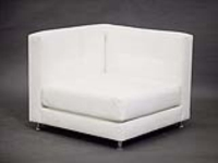 Rental store for WHITE VINYL SECTIONAL CORNER in Orange County CA
