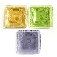Rental store for COLOR GLASS SQUARE PLATES in Orange County CA