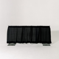 Rental store for 3  HIGH PIPE   DRAPE, BLACK - PER FOOT in Orange County CA