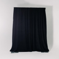 Rental store for 10  HIGH PIPE   DRAPE, BLACK VELOUR, FT in Orange County CA