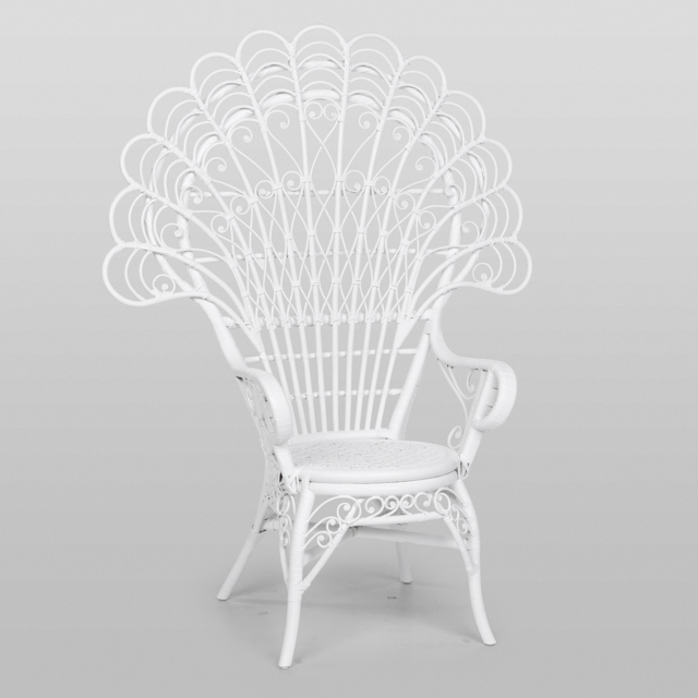 Where to find PEACOCK CHAIR, WHITE in Orange County