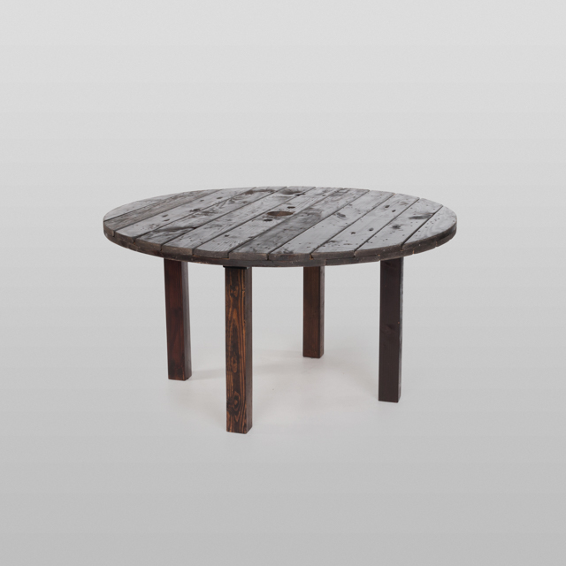 Where to find FRUITWOOD TABLE 60  ROUND X 30 H in Orange County