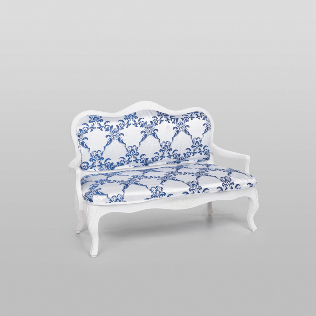 Where to find VINTAGE LOVESEAT BLUE WHT DAMASK in Orange County