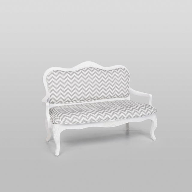 Where to find VINTAGE LOVESEAT GREY CHEVRON in Orange County