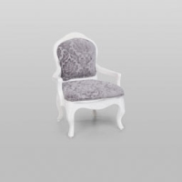 Rental store for VINTAGE ARMCHAIR GREY DAMASK in Orange County CA