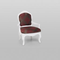 Rental store for VINTAGE ARMCHAIR BURG BRWN DAMASK in Orange County CA