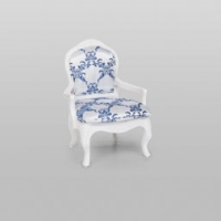Rental store for VINTAGE ARMCHAIR BLUE WHT DAMASK in Orange County CA