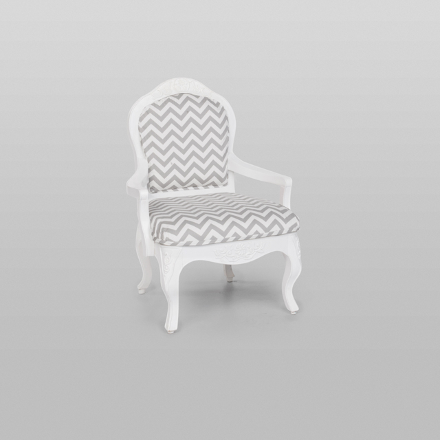 Where to find VINTAGE ARMCHAIR GREY CHEVRON in Orange County