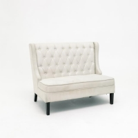 Rental store for TUFTED IVORY SETTEE in Orange County CA