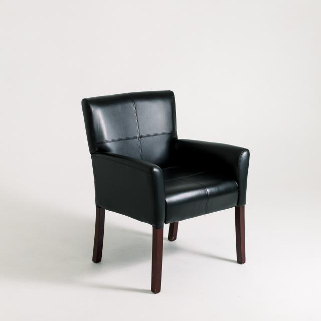 Where to find BLACK LEATHER CHAIR WITH ARMS in Orange County