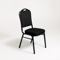 Rental store for STACKING PADDED CHAIR, BLACK   BLACK in Orange County CA