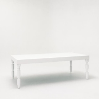 Rental store for 8  VENETIAN DINING TABLE, GLOSS WHITE in Orange County CA