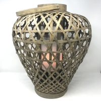 Rental store for WICKER BASKET LANTERN WITH LED LIGHT in Orange County CA