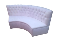 Rental store for CURVED TUFTED BANQUETTE, WHITE in Orange County CA