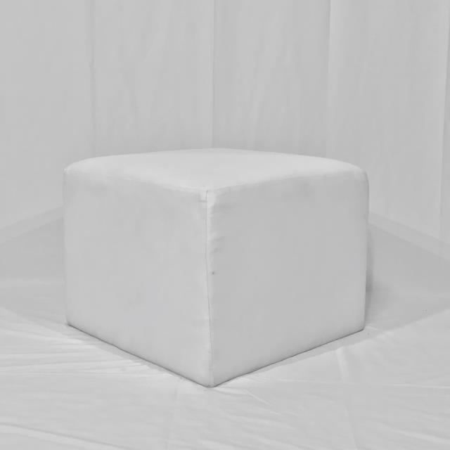 Where to find WHITE VINYL OTTOMAN in Orange County