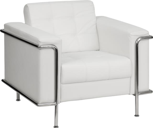 Where to find WHITE LEATHER CHAIR W  CHROME in Orange County