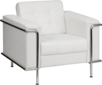 Rental store for WHITE LEATHER CHAIR W  CHROME in Orange County CA