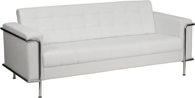 Where to find WHITE LEATHER SOFA W  CHROME in Orange County