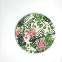 Rental store for TROPICAL FLORAL CHARGER, MELAMINE in Orange County CA