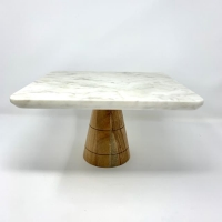 Rental store for CAKE STAND 11 , MARBLE   WOOD, SQUARE in Orange County CA