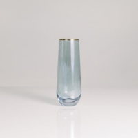 Rental store for SKY STEMLESS FLUTE 9OZ, GOLD TRIM in Orange County CA
