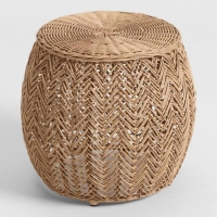Rental store for BOHO RATTAN STOOL in Orange County CA