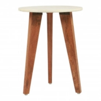 Rental store for PIPER END TABLE, WHITE MARBLE   WOOD in Orange County CA