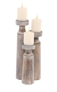 Rental store for WOOD METAL CANDLE HOLDERS, TALL SET 3 in Orange County CA