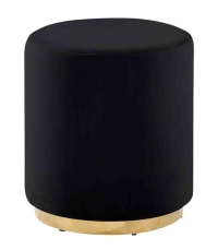 Rental store for VELVET NOIR STOOL, BLACK GOLD DETAIL in Orange County CA