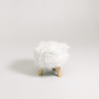 Rental store for FAUX FUR STOOL, WHITE in Orange County CA