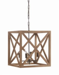 Rental store for SQUARE WOOD CHANDELIER in Orange County CA