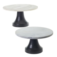 Rental store for CAKE STAND 12 , MARBLE   BLACK BASE in Orange County CA