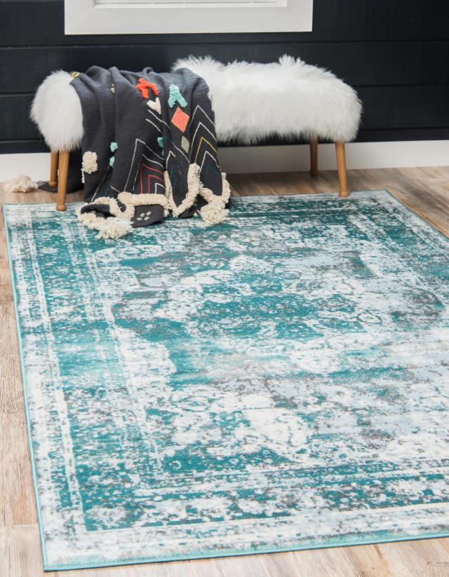 Where to find TURQUOISE   WHITE  RUG, 5  X 8 in Orange County